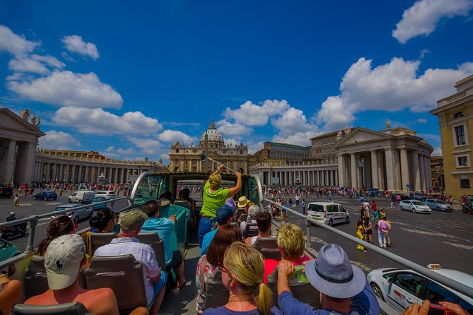 Hop-on Hop-off open Bus 24/48hr & Vatican Museum Sistine Chapel Tour| Fast Track