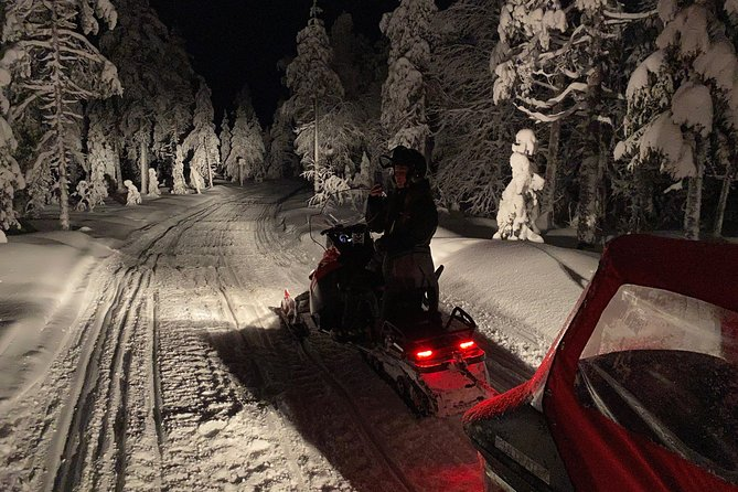 Northern lights hunting by snowmobile (private tour)