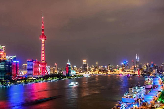 Shanghai Private Night Tour with Huangpu River Cruise, the Bund and Xintiandi photo 1