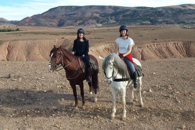 Horse back riding near Agafay desert and 2 Atlas Mountain valleys discovery