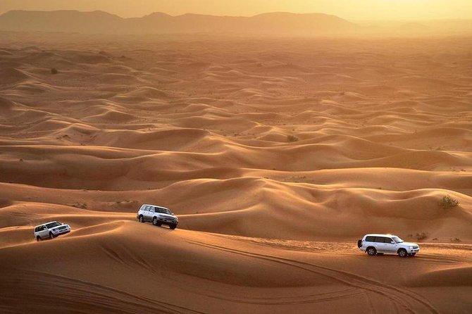 Dubai Desert Safari 4x4 Dune Bashing, Camel Ride, Sand Boarding, BBQ Dinner