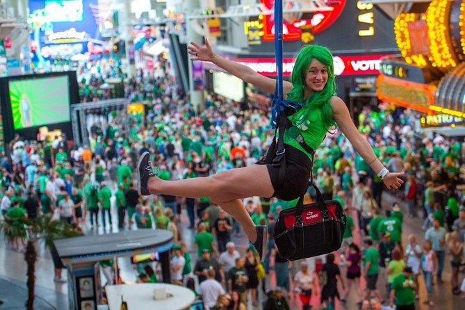 SlotZilla Zipline on Fremont Street