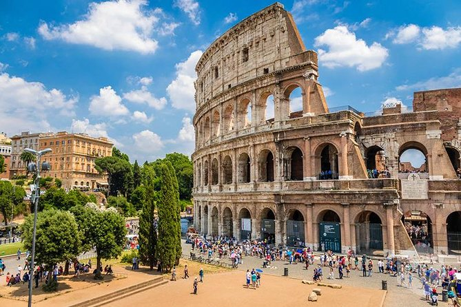Rome: Colosseum underground and arena with Roman Forum and Palatine hill