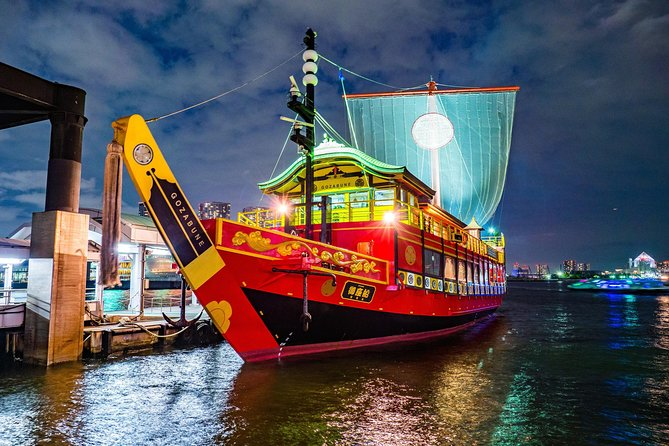 Samurai Evening Cruise Tokyo Bay-Kabuki-style show + 14 course dishes + all-you-can-drink ※ Reservation for 2 or more people
