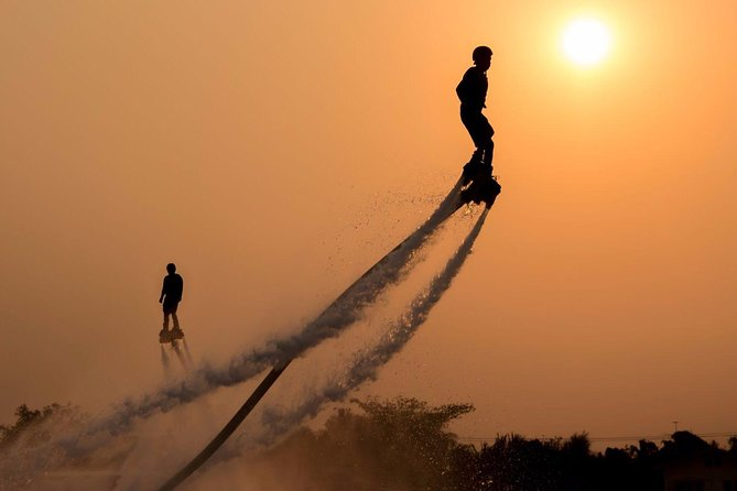 Evening FlyBoard & Champagne experience onboard luxury yacht