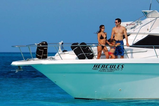 Private Yacht Tour to Isla Mujeres - 46 ft Sea Ray Tour and Cancun bay snorkel photo 2