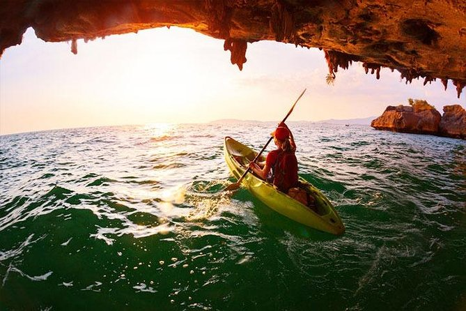 Half Day Cave Kayaking in 2 Sea Caves at Bor Thor from Krabi