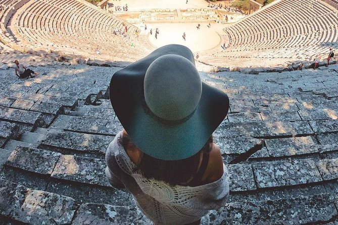 Epidaurus great theatre ^ soul rebirth in Eleusinian mysteries