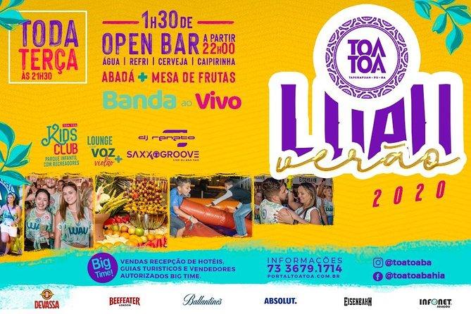 Luau Tôa Tôa - O melhor Luau OPEN BAR de praia do Brasil
