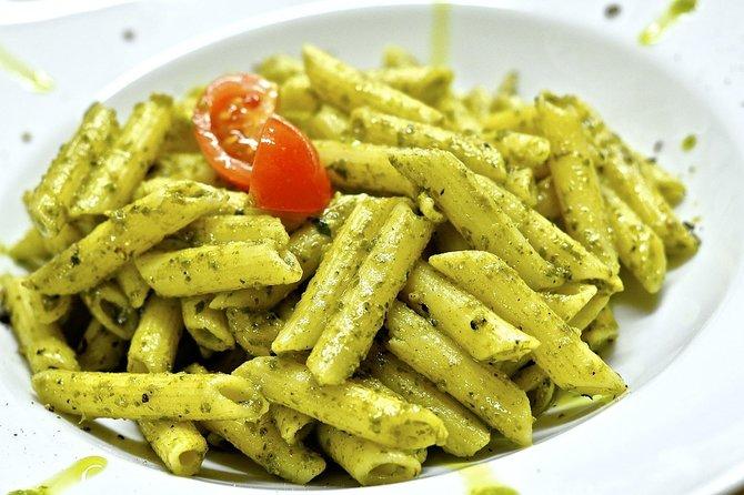 Genoa Food Tour with Trofie al Pesto at Mercato Orientale and Walking to Caruggi