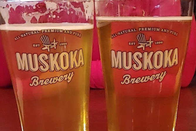 Muskoka beers winter wonderland with ice skating or snowshoeing