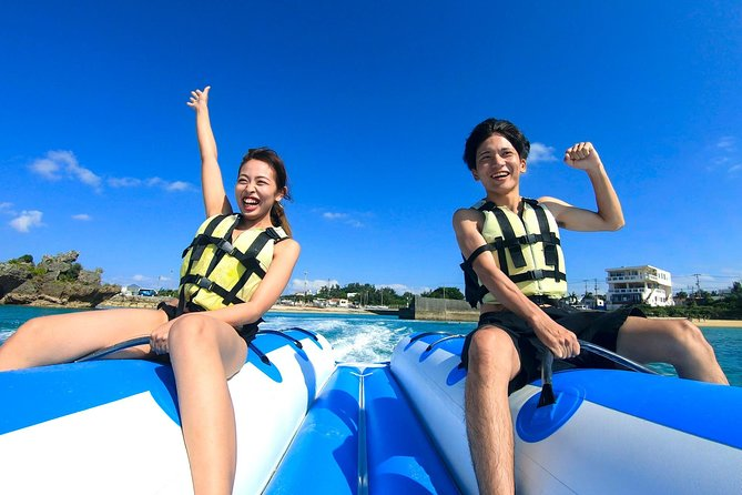[Regional common coupon target] Let's enjoy twice as much as a set! / Blue cave experience diving + banana boat
