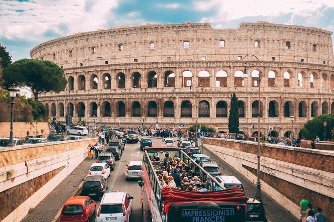 Rome Hop On-Hop Off Open Bus Colosseum, Vatican Museum Guided Tour Skip the Line