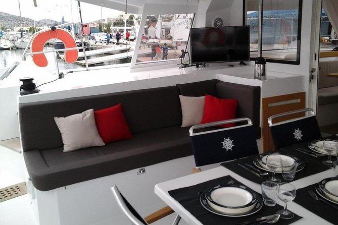 Day Cruise Athens-Aegina in private on board of a Catamaran