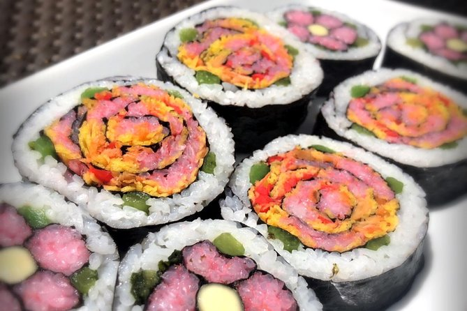 Cute maki sushi experience Japanese traditional culture