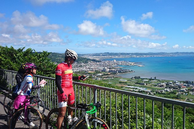 Okinawa cycling tour 1 round southern course overlooking the sea