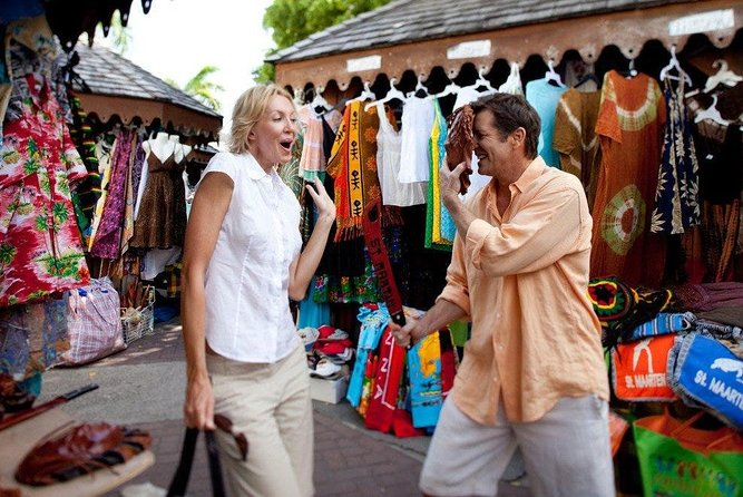 Shopping in Marigot and Philipsburg ending at Great Bay Beach