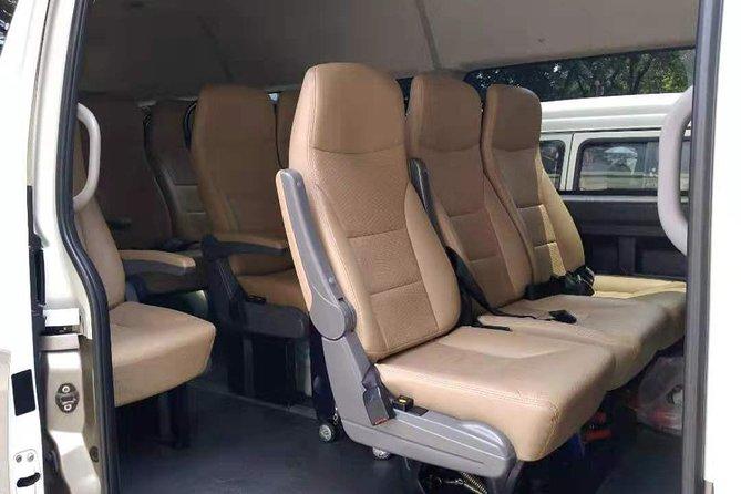 The van inside