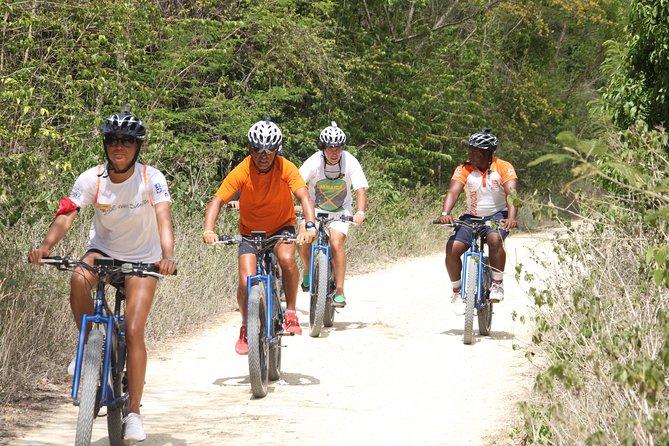 E-Bike Tour, Zip Line Splash and Dominican Food Combo
