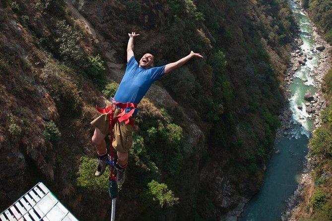 Bungee jumping in Bhotekosi Nepal