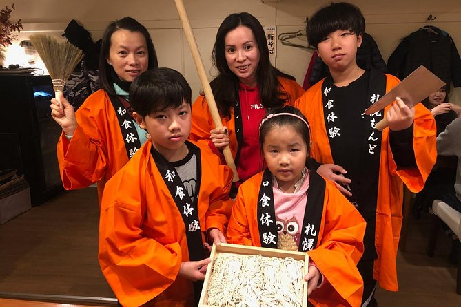 In the center of Sapporo! Plan to enjoy soba making experience and MONDO's Japanese dinner course 4 people or more