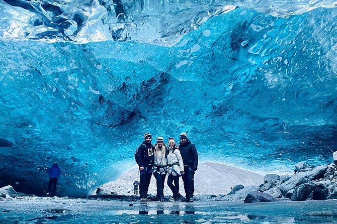 Natural Crystal Blue Ice Cave Tour of Vatnajökull Glacier