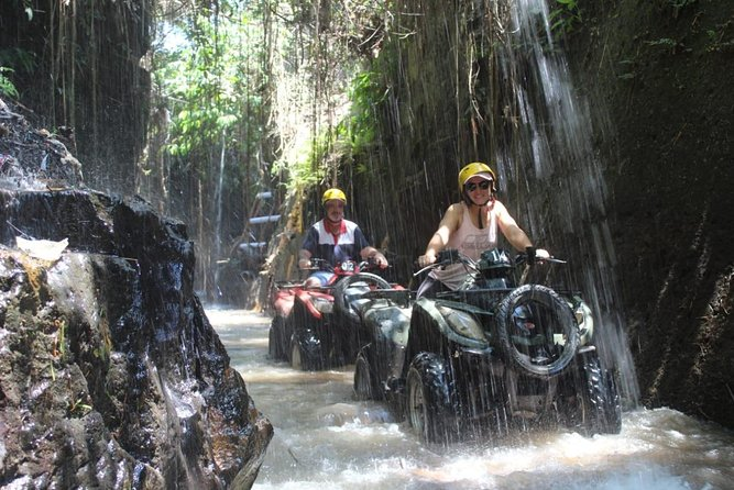 Bali Quad Biking with Rice Paddy, Jungle, Waterfall and Cave Trek