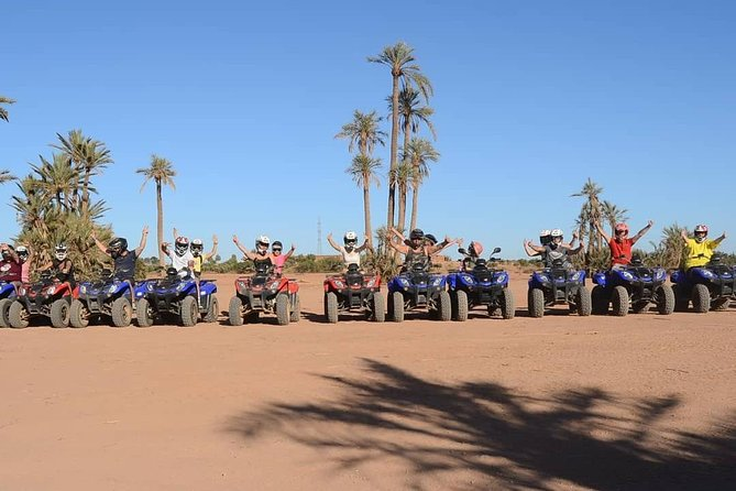 Quad bike in the palm grove of Marrakech