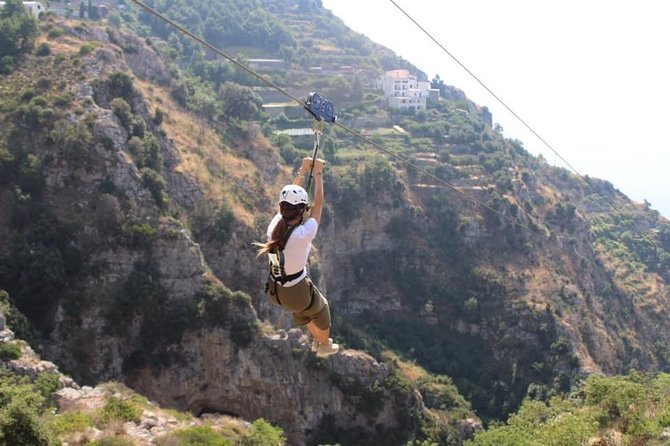 Zipline & Walking Adventures in Amalfi Coast trought Furore Fjord with guide