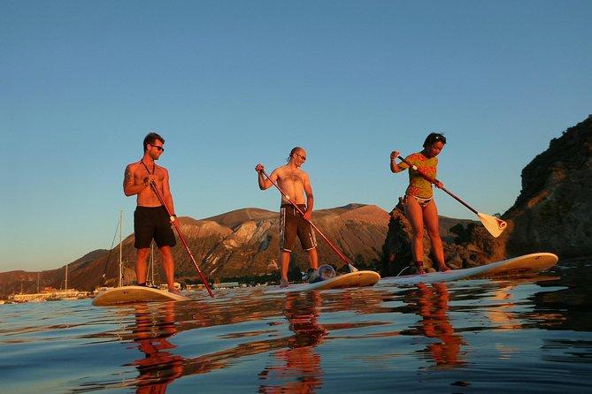SUP into the sunset on Vulcano Island