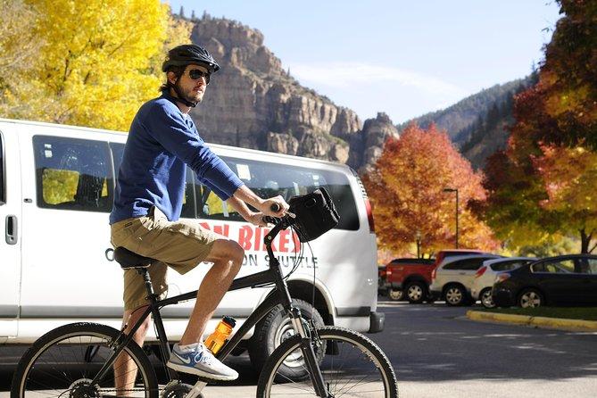 Bike through the Glenwood Canyon along the Colorado River