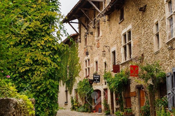 The medieval town of Pérouges and Bugey wine