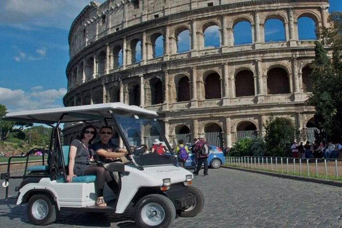 Full day private guided tour of Rome by golf-cart & Colosseum and Roman Forum