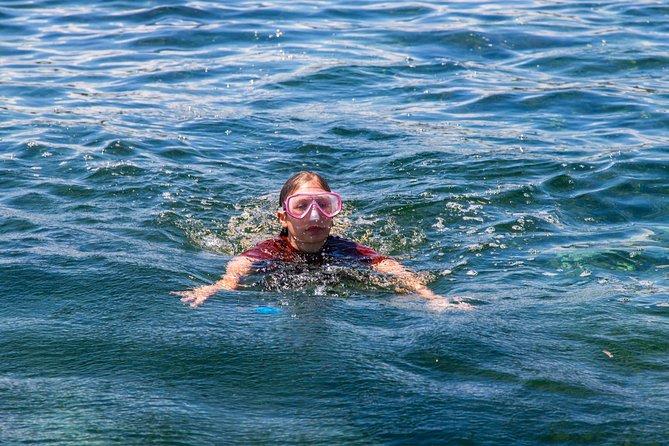 Chale island's beautiful reef, the best snorkeling location.