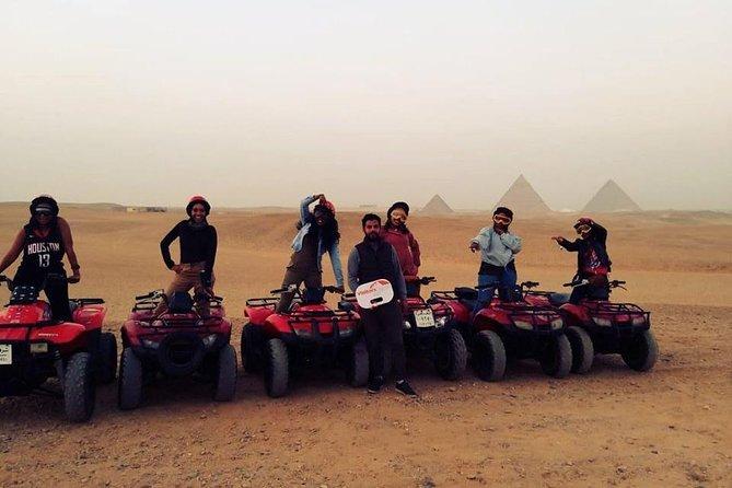Private Tour Around the Pyramids Driving a Quad Bike