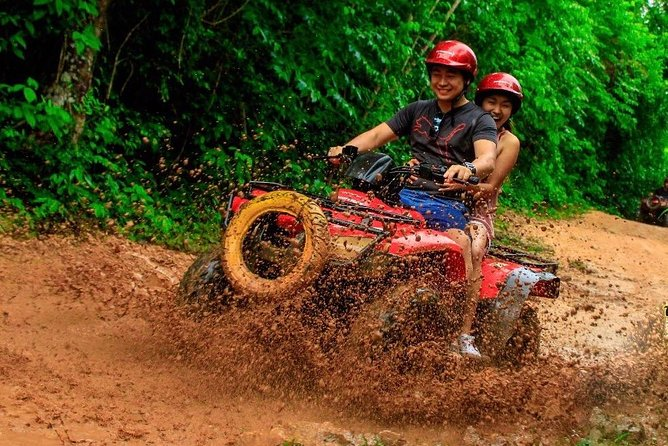 Adrenaline day in Cancun with Atvs (shared) Zipline and a Mayan Cenote