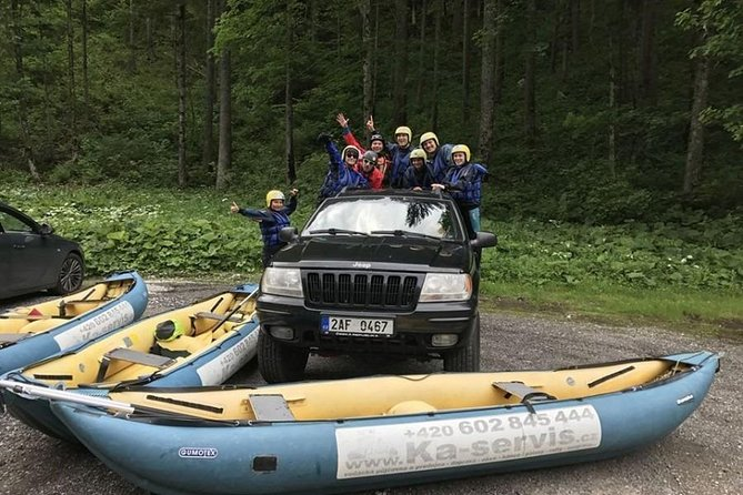 All day fun: Rafting in Czech River