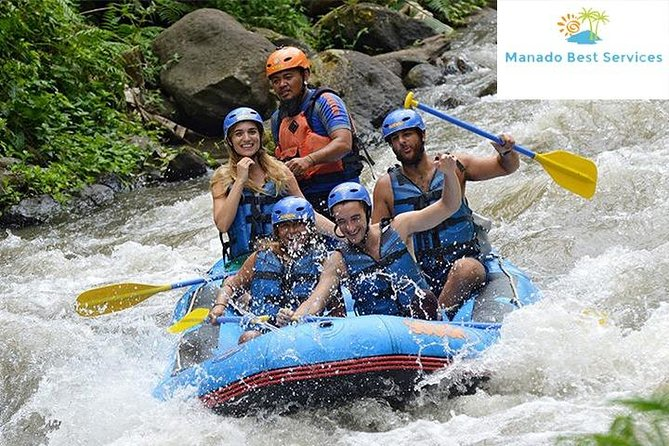 Manado Timbukar rafting includes shuttle and lunch.