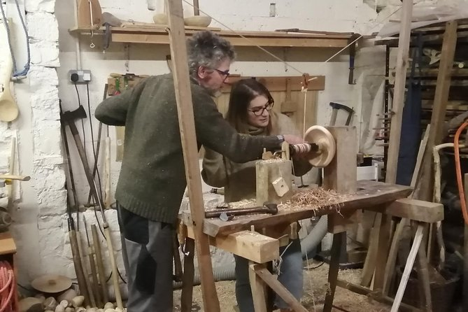 'Experience day on a traditional pole lathe'