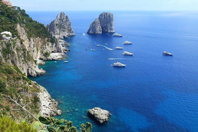 Exclusive Private Trip to Capri & Blue Grotto with Convertible Car and Top Guide