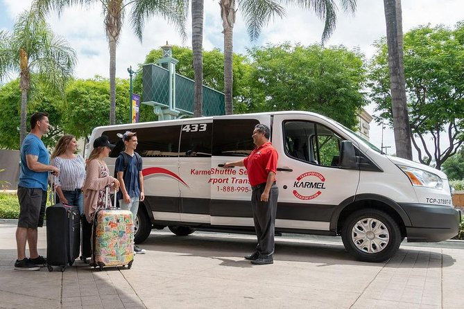 Private Van Airport Arrival Transfer: John Wayne Airport to Anaheim Resort Area