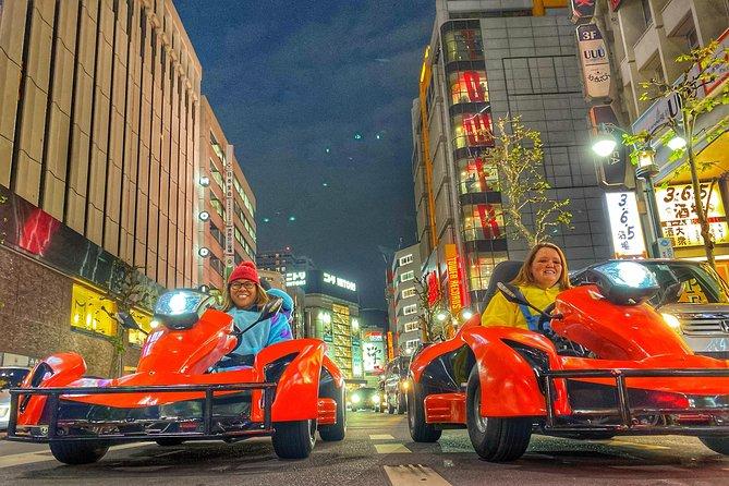 Go-kart tour Shinjuku drive metroporitan area with Iconic Photes