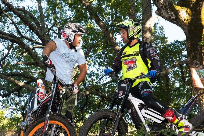 Electric motorcycle trial hike Luberon