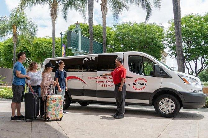 Private Van Airport Departure Transfer: Anaheim Resort to Long Beach Airport