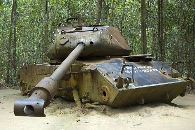 Cu chi tunnels tour.See people affected by Agent orange