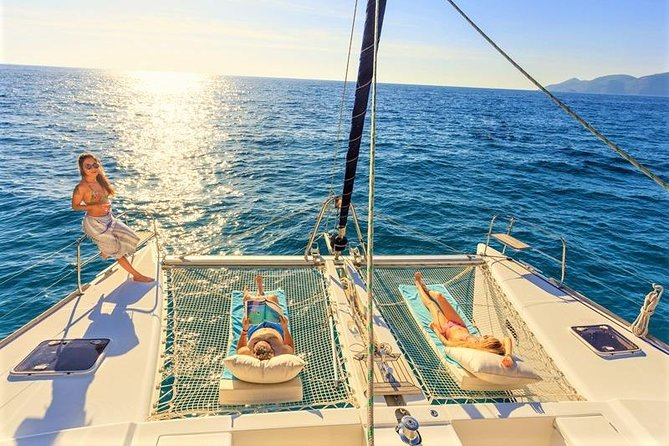 Luxury All-Inclusive Catamaran Cruise to Ile aux Cerfs and GRSE Waterfall