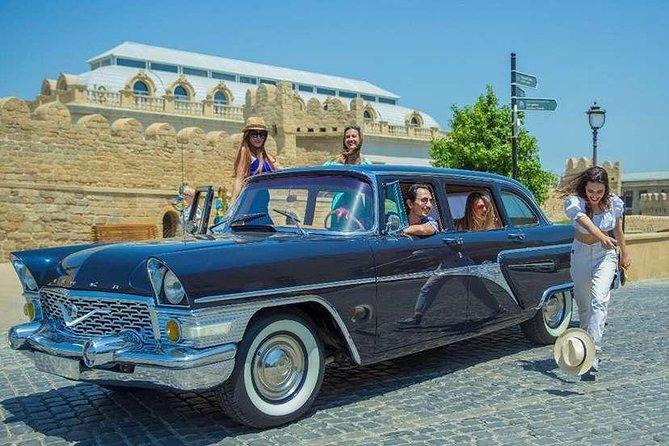 Private Arrival Transfer Baku Heydar Aliyev Airport to Baku City in Retro Car