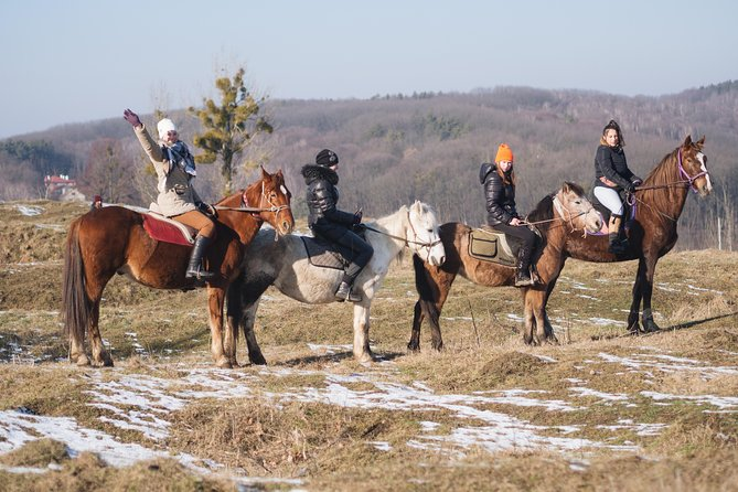Five hours of extreme horse riding trip around Lviv city for experienced riders