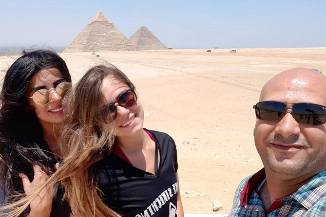 Giza pyramids and Cairo tour from Luxor hotel by plane