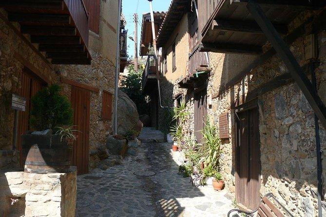 Old Kakopetria & Agios Nicolaos tis Stegis UNESCO church (from Ag Napa)